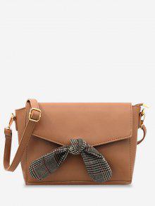 حقيبة كروس مزينة بفيونكة من الجلد مزينة بفيونكة -