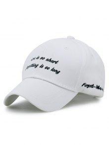رومانسية جملة التطريز قبعة بيسبول - أبيض