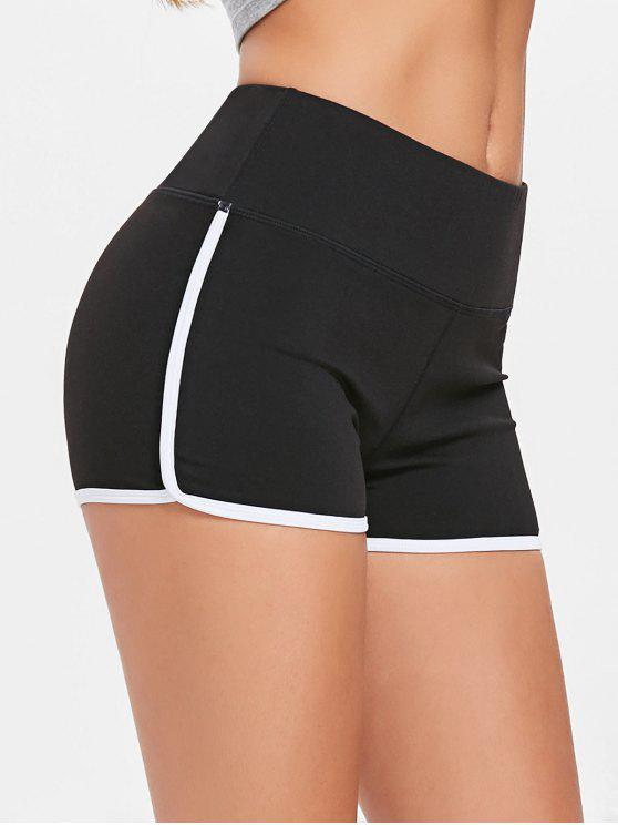 outfits Compression Gym Dolphin Shorts - BLACK M