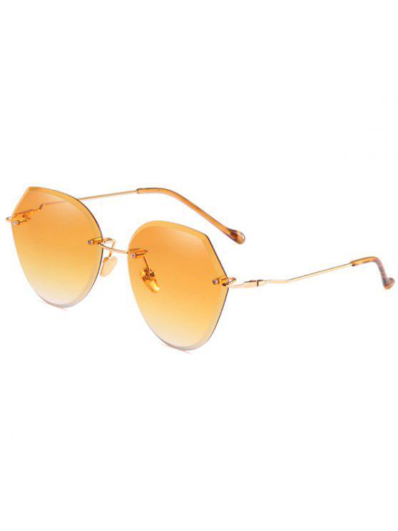 Anti-Ermüdungs-unregelmäßige Linsen-randlose Sonnenbrille - Biene Gelb