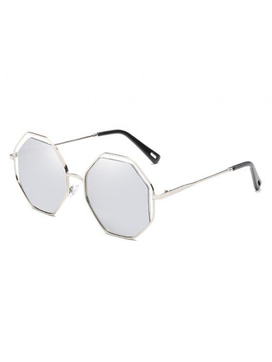 unique Anti Fatigue Rhomb Lens Sun Shades Sunglasses - PLATINUM