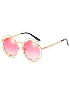 Gafas De Sol Redondas De Marco Hueco De Declaración - Rosa De Clavel