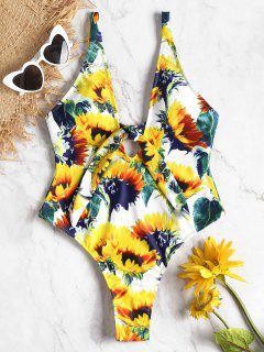 Traje De Baño Sunflower De Corte Alto Frente - Amarillo De Sol  L