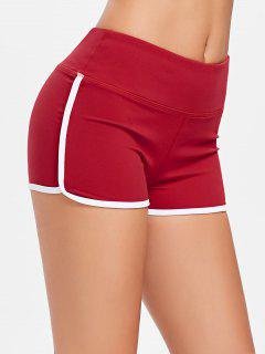 Compression Gym Dolphin Shorts - Love Red L