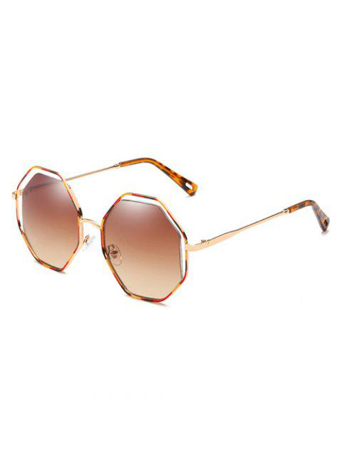 fancy Anti Fatigue Rhomb Lens Sun Shades Sunglasses - CAMEL BROWN  Mobile
