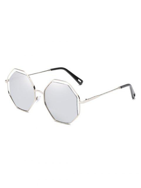 unique Anti Fatigue Rhomb Lens Sun Shades Sunglasses - PLATINUM  Mobile