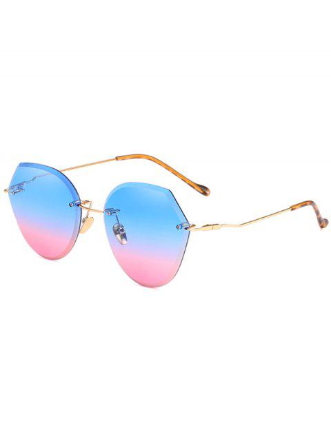 hot Anti Fatigue Irregular Lens Rimless Sunglasses - DODGER BLUE  Mobile
