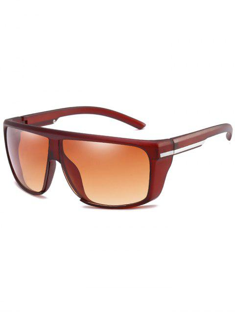 unique Lightweight Anti UV Full Frame Sunglasses - LIGHT BROWN  Mobile