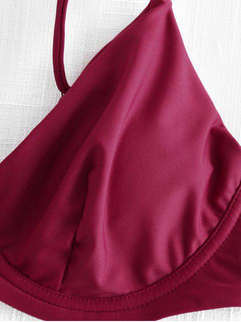 Bikini Con Ferretto A Gamba Alta - Vino Rosso S Mobile