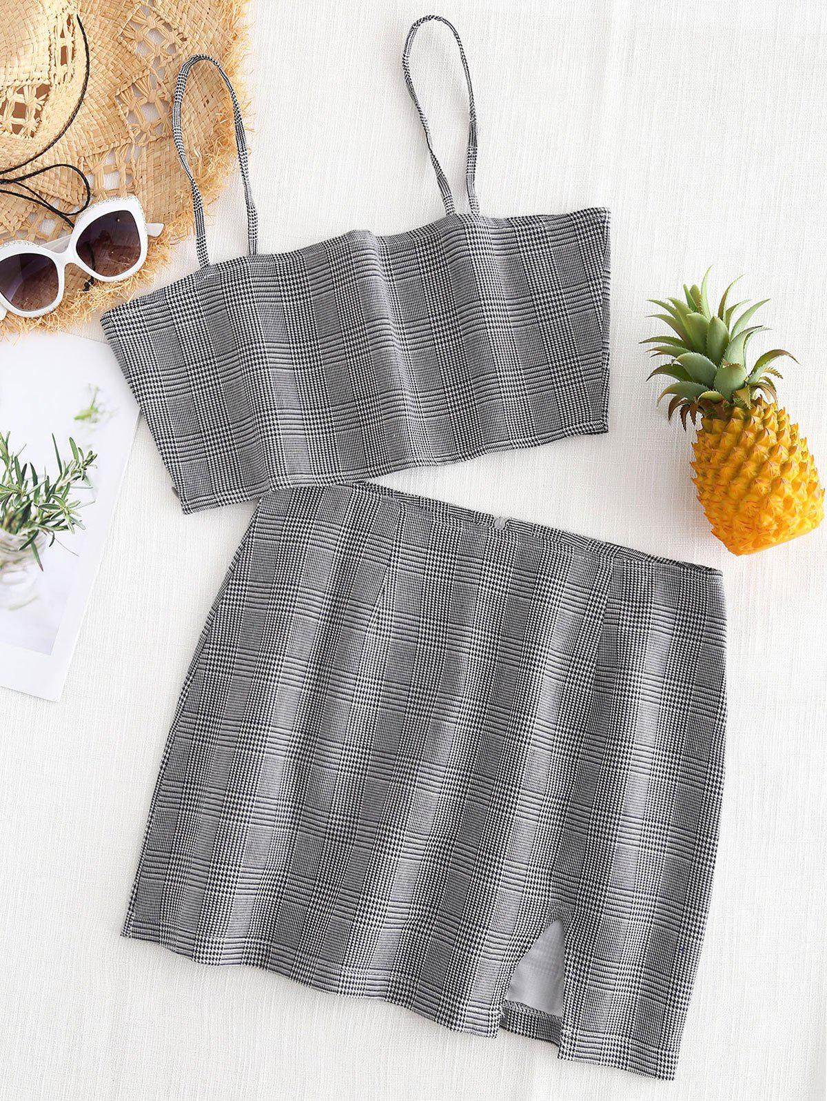 Bralette Plaid Top and
