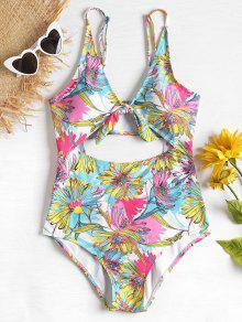 زهور عالية مخصر قطع ملابس السباحة - ذرة صفراء Xl