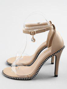 0eedb221e67 46% OFF  2019 Crystal High Heel Transparent Strap Ankle Strap ...