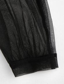 Lantern Bodysuit Lace Sleeve Jesey Lingerie Tulle Negro qpxEwZxXa