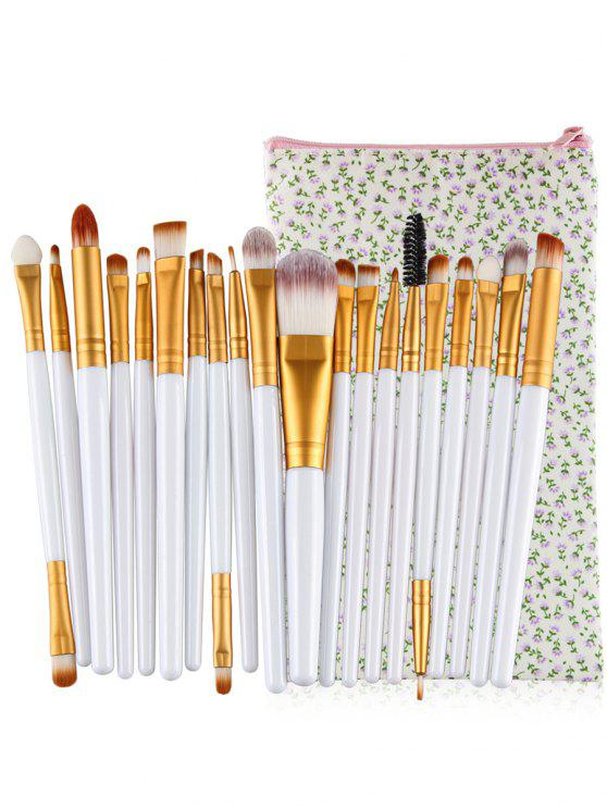 Profesional 20Pcs Ultra Soft Foundation Eyebrow Eyeshadow Corrector Set con bolsa - Blanco