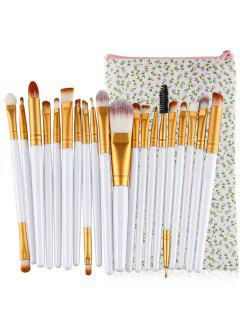 Professional 20Pcs Ultra Soft Foundation Eyebrow Eyeshadow Concealer Brush Set With Bag - White