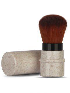 Multifunctional Ultra Soft Fiber Hair Telescoping Makeup Brush - Warm White