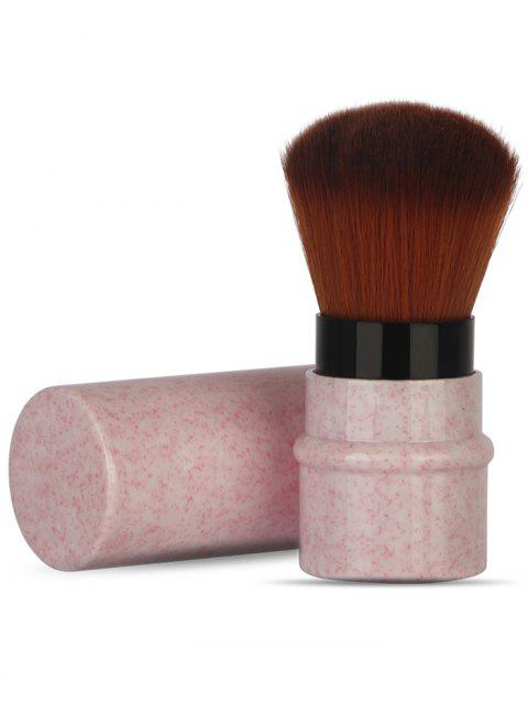 Pinceau de Maquillage Télescopique en Fibre Ultra-Douce Multifonctions - Rose Cochon  Mobile