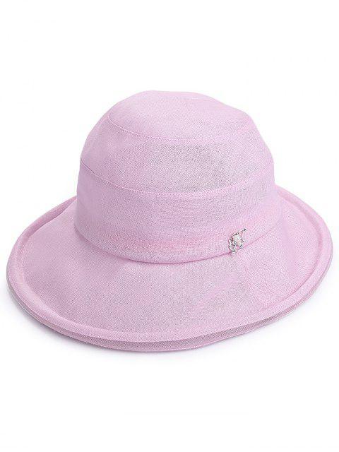 Sombrero anti UV de ala ancha de vacaciones de verano - Rosa  Mobile