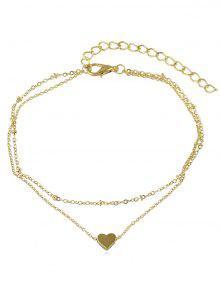 الحب القلب تصميم سلسلة خلخال سلسلة - ذهب