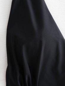 o Traje L Halter Plus De Cutout Negro Size Ba 1Eq8ArE