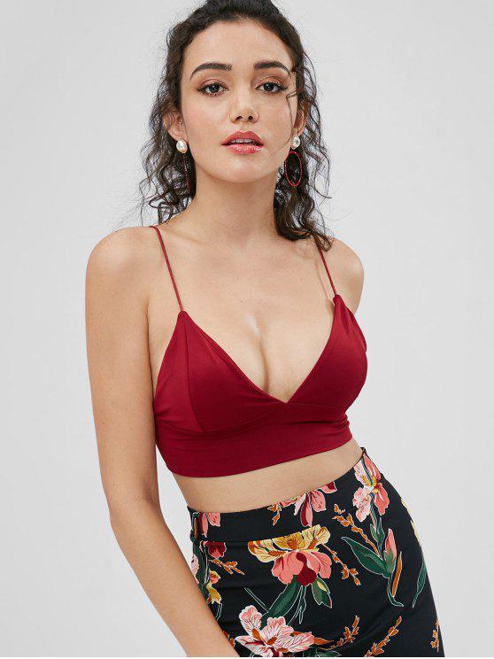 a4b1f41f86 23% OFF   HOT  2019 Cami Bralette Crop Top In RED WINE