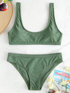 Sport Tank Bikini Set - Camouflage Green L