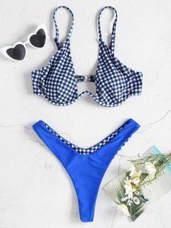 Ensemble De Bikini Avec Armature Réversible En Vichy - Multi L
