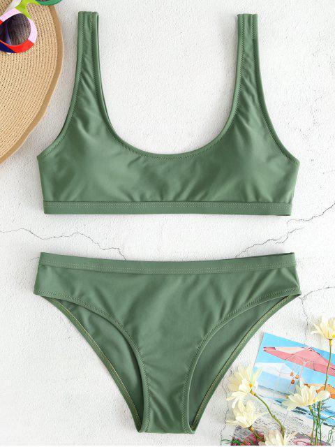 sale Sport Tank Bikini Set - CAMOUFLAGE GREEN M Mobile
