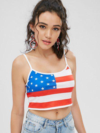 Crop American Flag Cami Top