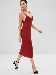 Jersey Liso o Rojo Cami Vestido Casta d86vdq