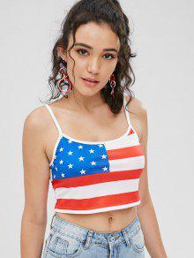 La S La Cosecha Americana Multicolor Superior De Camisa Bandera De R7fqwZY