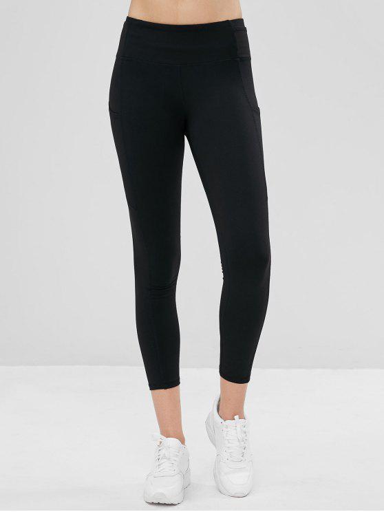 Leggings Sportivi Con Tasche - Nero L
