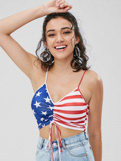American Flag Cinched Cami Top - Multi M