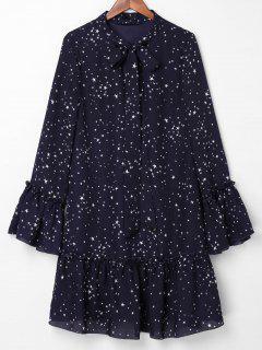 Robe Nouée Et Imprimée D'étoiles - Ardoise Bleue Foncée Xl