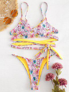 Wickel Blumen String Bikini - Multi M