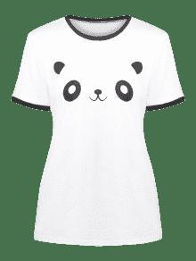 M Panda Ringer Blanco Graphic Tee Wqfz8q