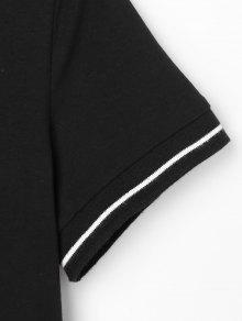 Vestido Camisa Con Negro S 225;ficos Botones De Gr 77a5rqxwfB