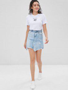 Camiseta Con Caracteres De Chinos Blanco 225;fico S Gr rrqw7CxF