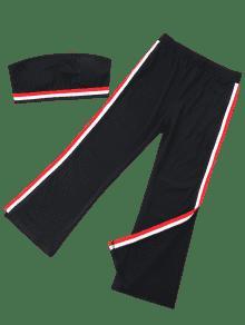 M Rayas Negro 243;n De Parcheadas Rayas Con Pantal Conjunto De 7Ixq1wz