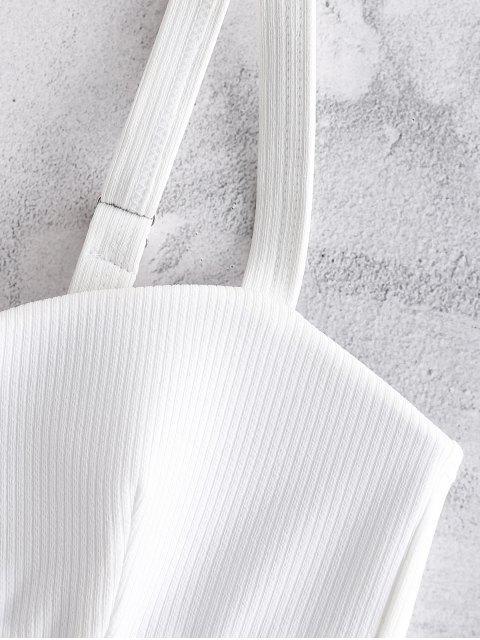 latest Textured Molded Cup Mermaid Shell Bikini Set - WHITE L Mobile