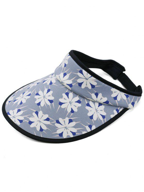 Blühende Blumen Open Top Sonnenschutz Hut - Dunkel Blau