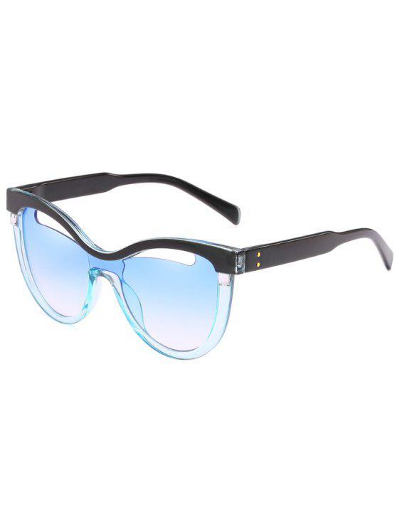 Novedad ahueca hacia fuera el marco Catty Sunglasses - Azul de Jeans