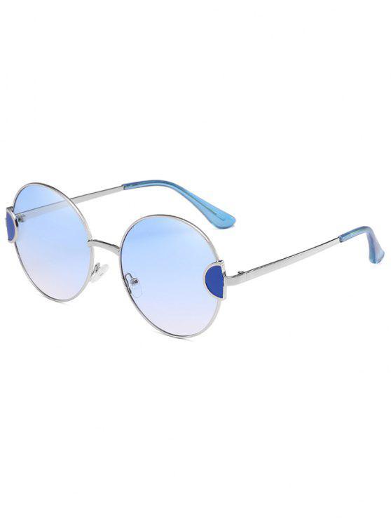 Óculos de sol redondos da lente do espaço livre completo do quadro original do metal - Céu Azul Escuro