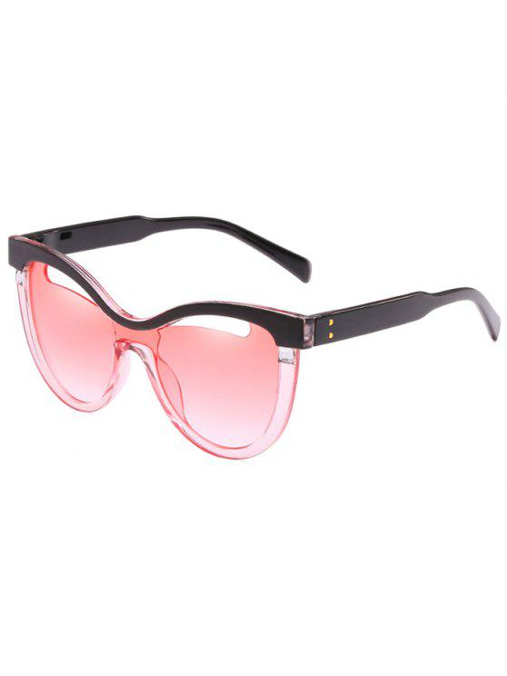 best Novelty Hollow Out Frame Catty Sunglasses - PINK