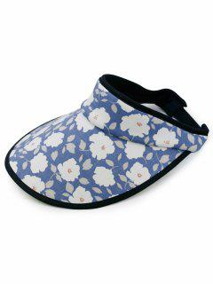 Stylish Flowers Printed Open Top Sun Hat - Blue