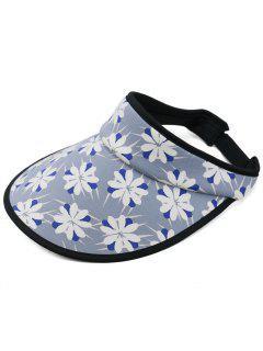 Flourishing Flowers Open Top Sunscreen Hat - Deep Blue