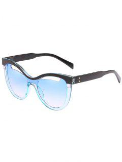 Novelty Hollow Out Frame Catty Sunglasses - Jeans Blue
