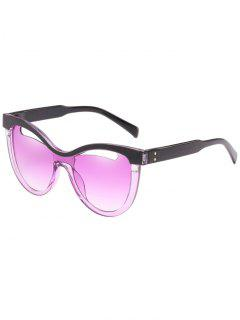 Novelty Hollow Out Frame Catty Sunglasses - Heliotrope Purple