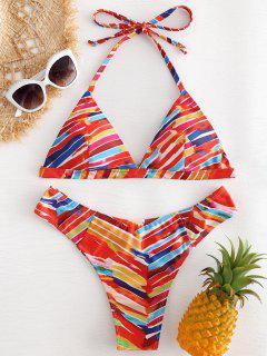 Bikini A Rayas Arco Iris - Multicolor M