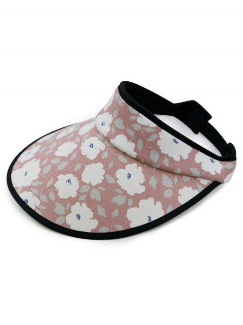 fancy Stylish Flowers Printed Open Top Sun Hat - LIGHT PINK  Mobile